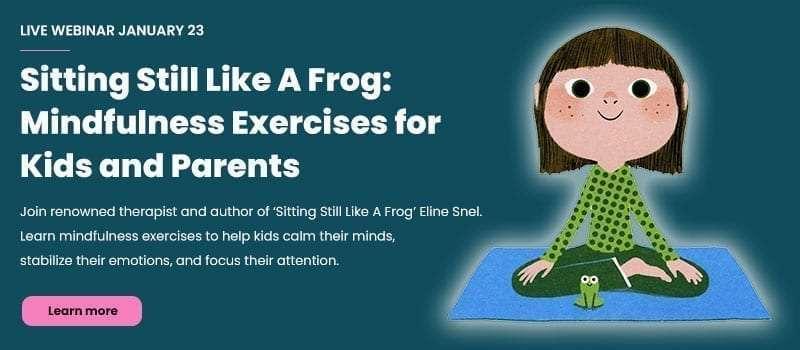 January 23 Mindfulness for Kids live webinar with Eline Snel